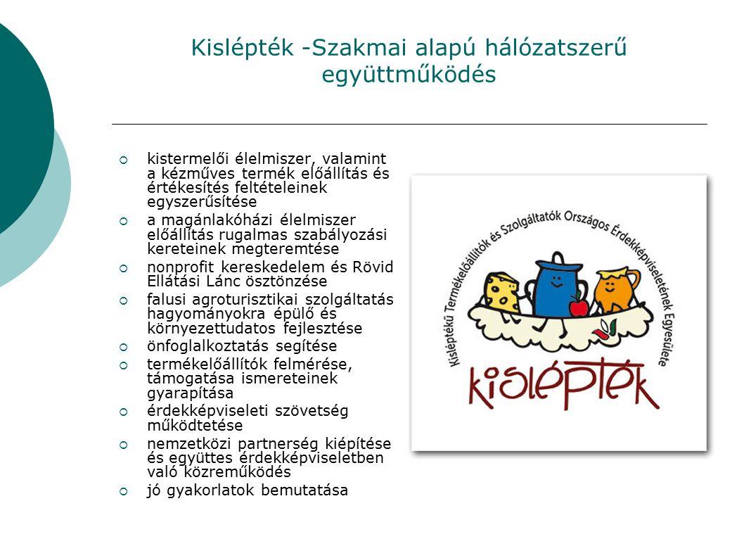 Kislépték -Szakmai alapú hálózatszerű együttműködés  kistermelői élelmiszer, valamint a kézműves termék előállítás és értékesítés feltételeinek egysz