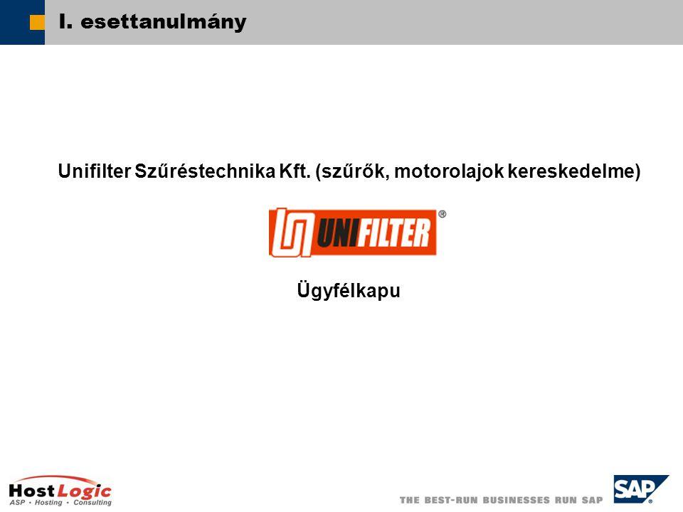  SAP AG 2003 I. esettanulmány Unifilter Szűréstechnika Kft.