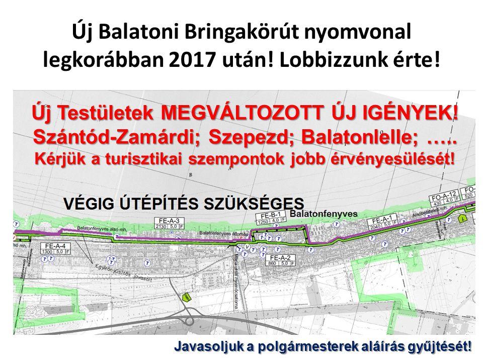 Új Balatoni Bringakörút nyomvonal legkorábban 2017 után.