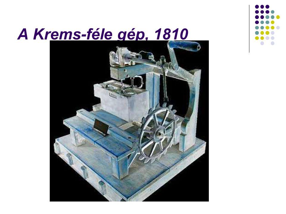 Eredményt először Elias Howe ért el.1843- 45-ben hajós varrógépet szerkesztett.