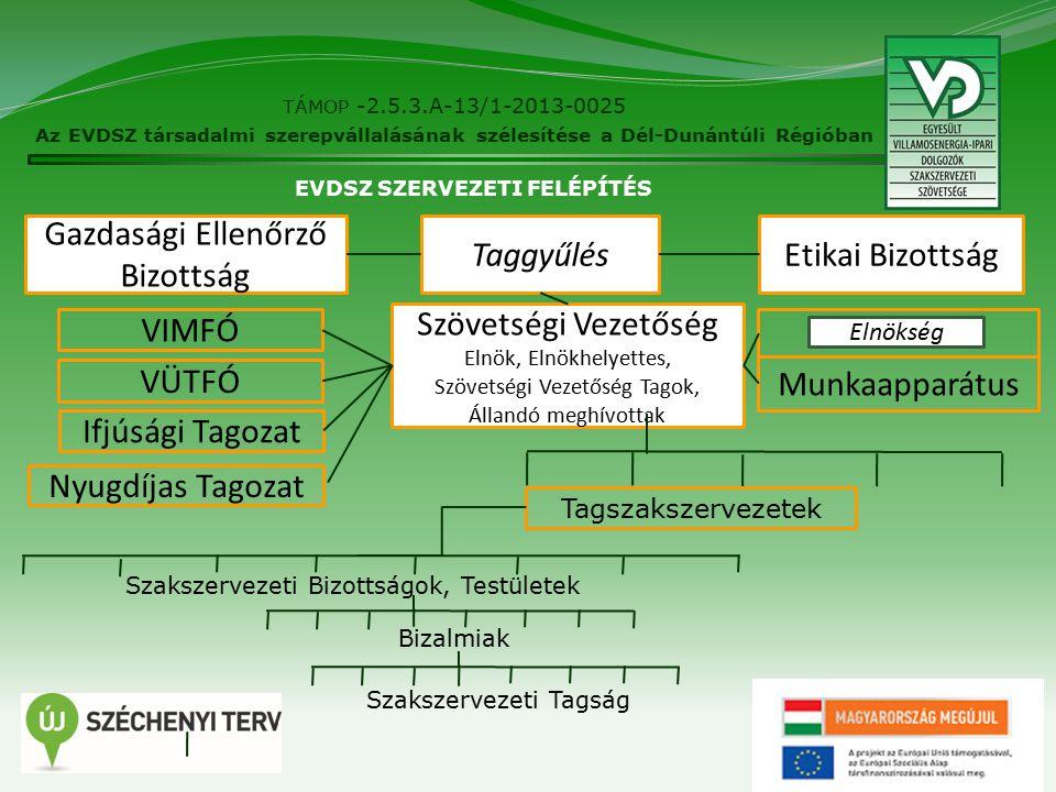 18 TÁMOP -2.5.3.A-13/1-2013-0025 Az EVDSZ társadalmi szerepvállalásának szélesítése a Dél-Dunántúli Régióban Speciális réteg honlapja, Speciális információkkal Fontos a hírek mellett az EVDSZ álláspontjának publikálása www.vd.hu Folyamatosan fejlesztés alatt.