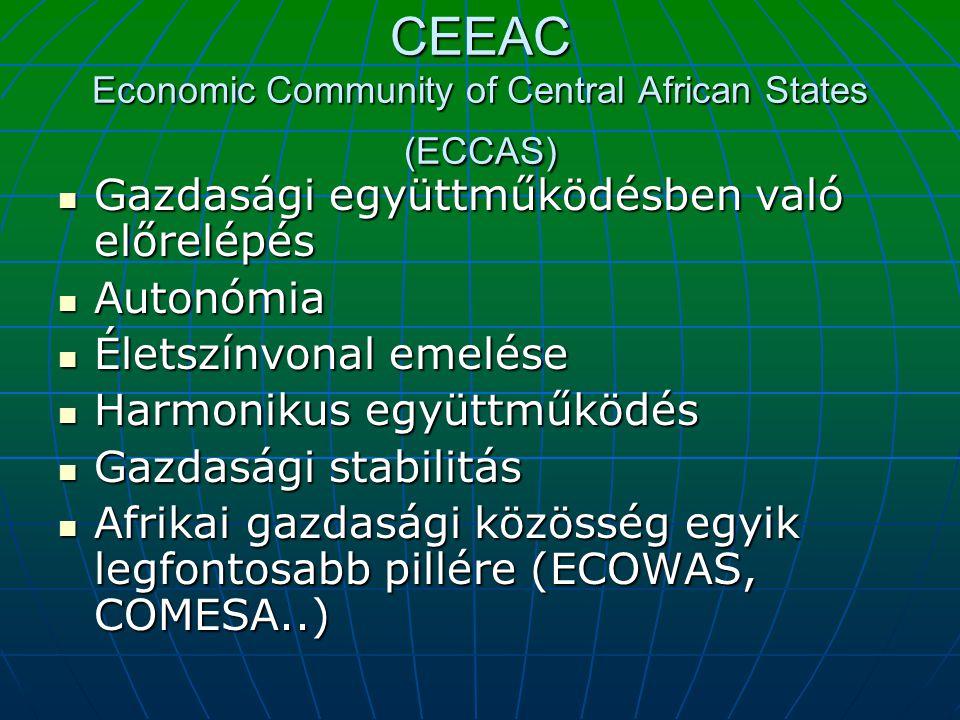 CEEAC Economic Community of Central African States (ECCAS) Gazdasági együttműködésben való előrelépés Gazdasági együttműködésben való előrelépés Auton