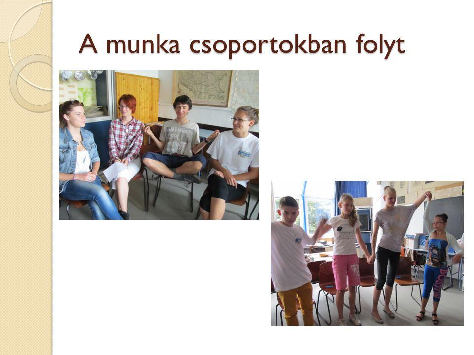 A munka csoportokban folyt