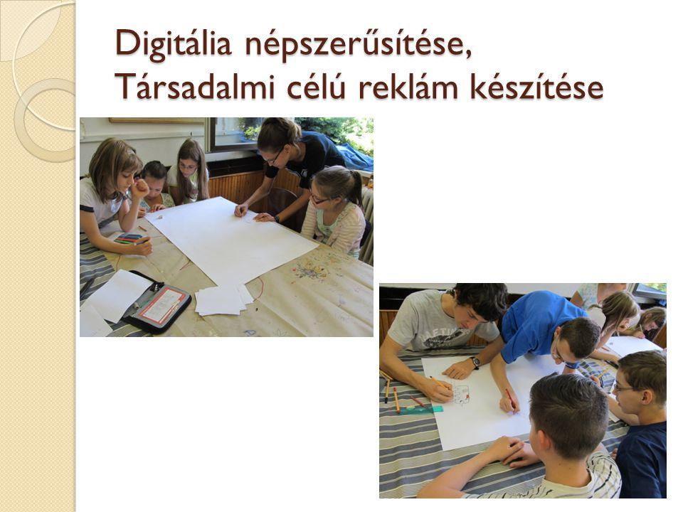 Digitália népszerűsítése, Társadalmi célú reklám készítése