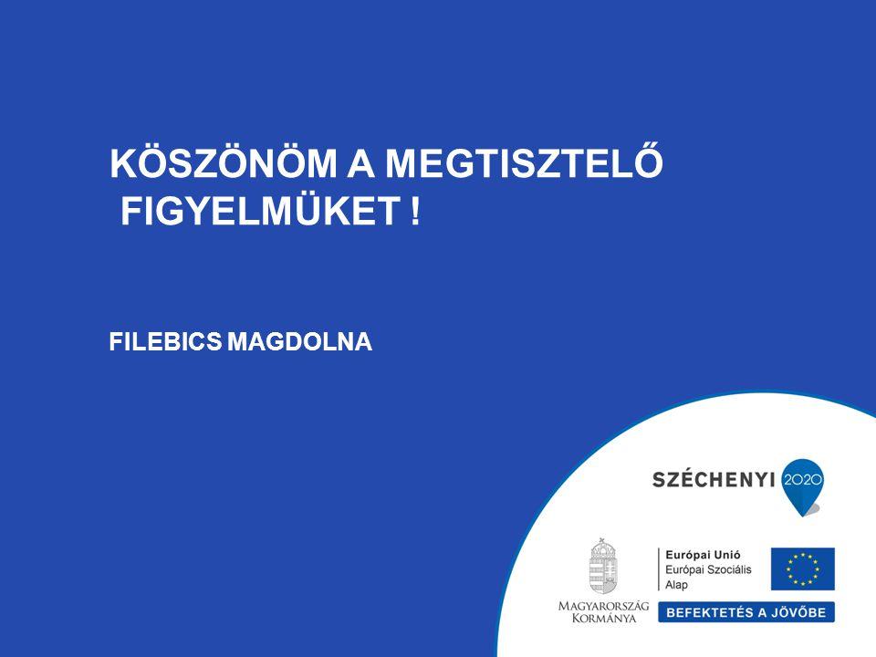 KÖSZÖNÖM A MEGTISZTELŐ FIGYELMÜKET ! FILEBICS MAGDOLNA