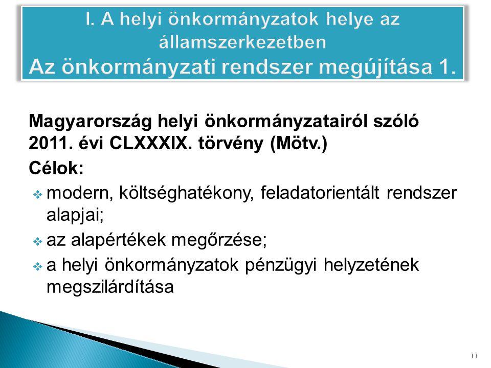 Magyarország helyi önkormányzatairól szóló 2011. évi CLXXXIX.
