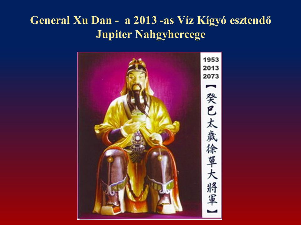General Xu Dan - a 2013 -as Víz Kígyó esztendő Jupiter Nahgyhercege