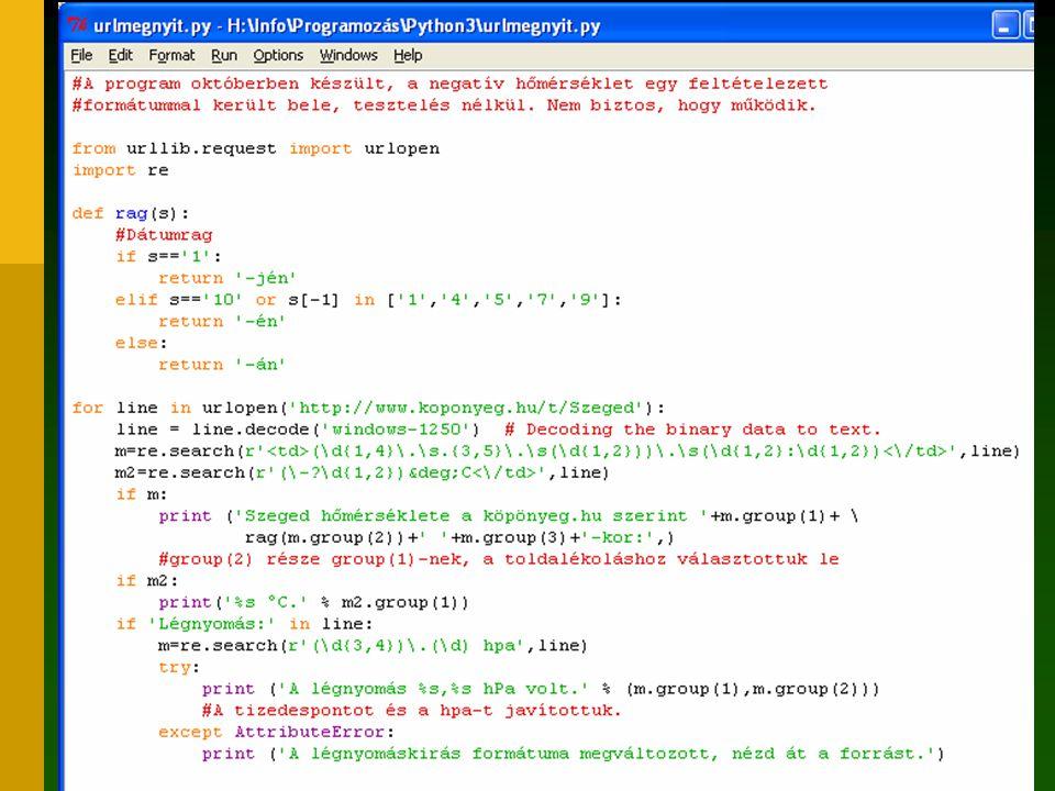37 Javaslat Kerüljön fel a Python a szoftverlistára Használjuk minél többen kezdő nyelvként Cseréljünk tapasztalatokat az Informatika levelezőlistán vagy a SuliPython wikiben