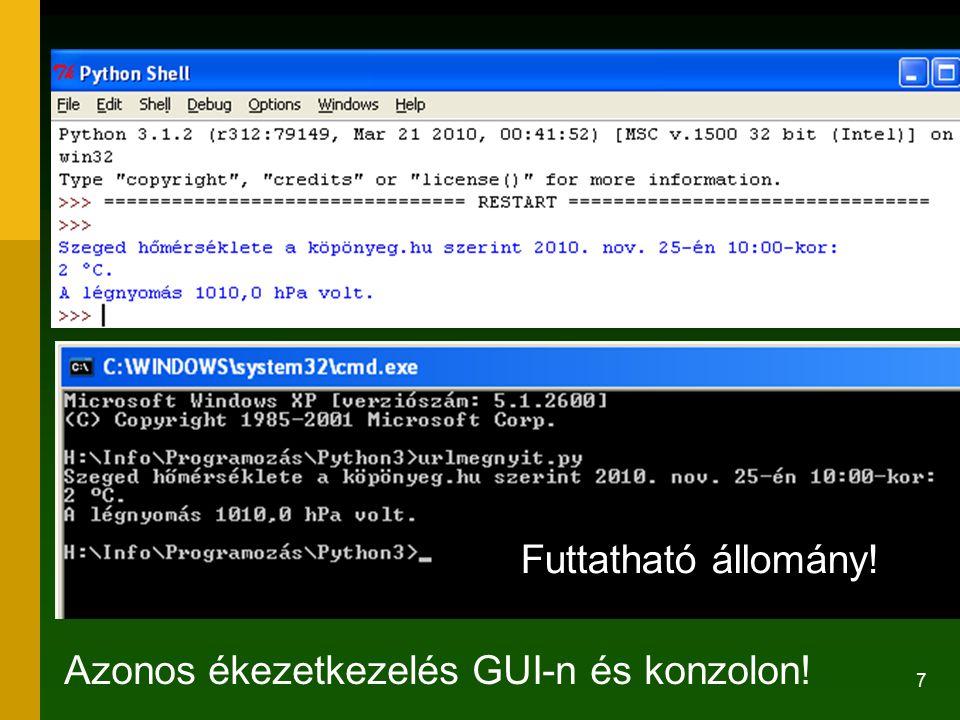 28 A Python jellemzői 3.