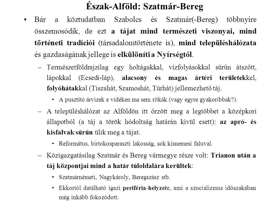 Bár a köztudatban Szabolcs és Szatmár(-Bereg) többnyire összemosódik, de ezt a tájat mind természeti viszonyai, mind történeti tradíciói (társadalomtö