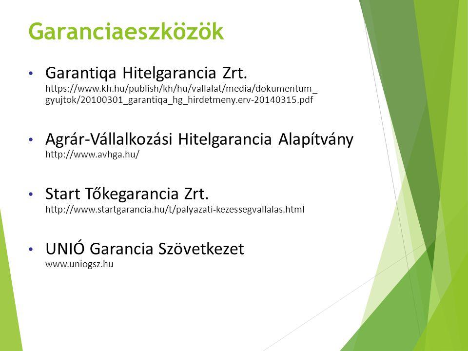 Garanciaeszközök Garantiqa Hitelgarancia Zrt. https://www.kh.hu/publish/kh/hu/vallalat/media/dokumentum_ gyujtok/20100301_garantiqa_hg_hirdetmeny.erv-