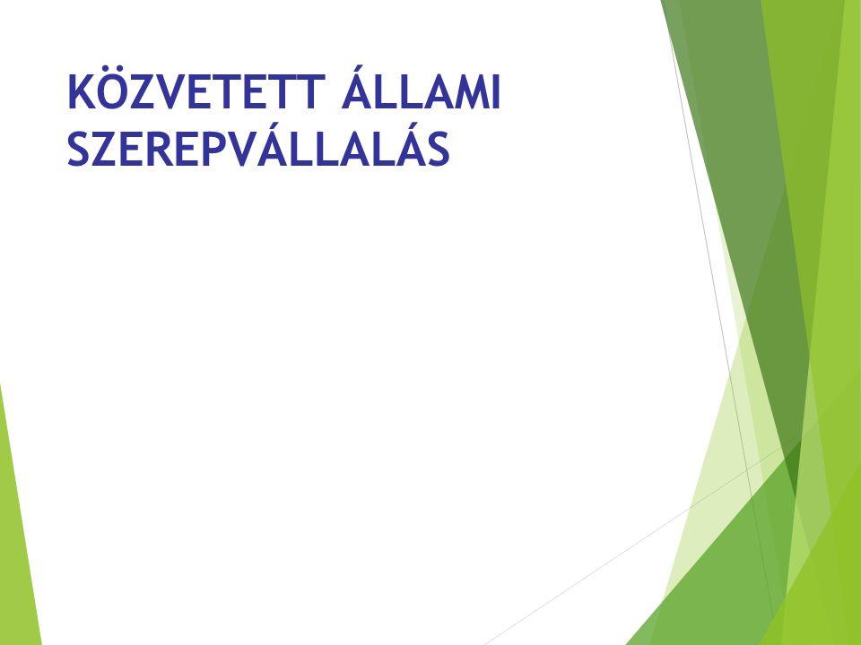 KÖZVETETT ÁLLAMI SZEREPVÁLLALÁS