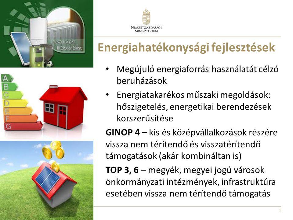 6 GINOP 7 - Természeti és kulturális örökség megőrzése, védelme, fejlesztése Kulturális örökséghelyszínek (2015: 10 Mrd Ft) Világörökségek, várományosok, szellemi kulturális örökségek, tematikus útvonalak pl.