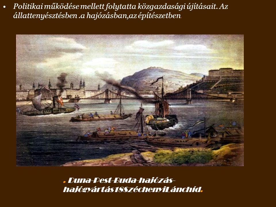 Széchenyi állandóan aggódó figyelemmel kísérte Kossuth Lajos politikai szereplésétKossuth Lajos Kossuth maga, Eötvös József báró, Fáy András, Dessewff