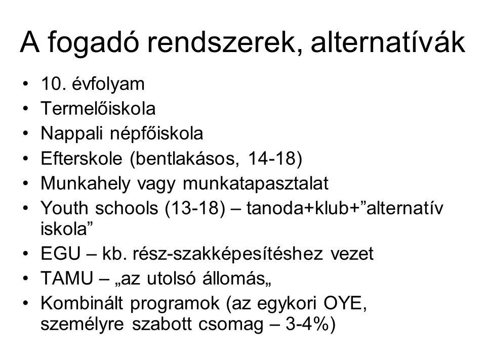A fogadó rendszerek, alternatívák 10.