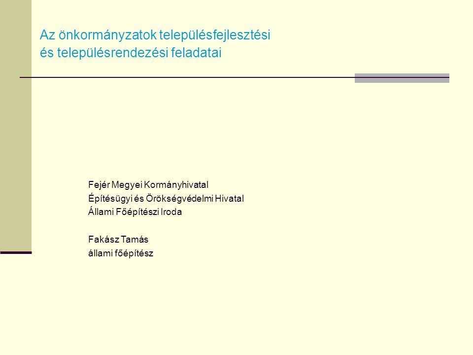 A területfejlesztés és területrendezés intézményrendszere A területfejlesztés intézményrendszere: 2007-20132014-2020- országos - régiós - megyei - kistérségi- települési A területrendezés intézményrendszere: - országos - megyei - települési