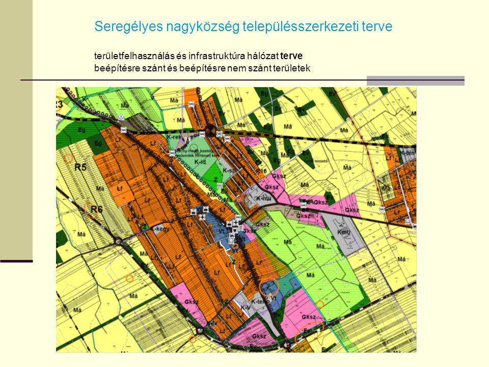 Seregélyes nagyközség településszerkezeti terve területfelhasználás és infrastruktúra hálózat terve beépítésre szánt és beépítésre nem szánt területek