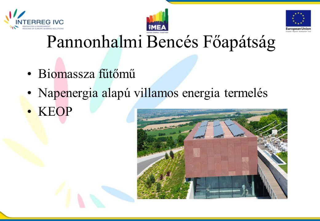 Pannonhalmi Bencés Főapátság Biomassza fűtőmű Napenergia alapú villamos energia termelés KEOP