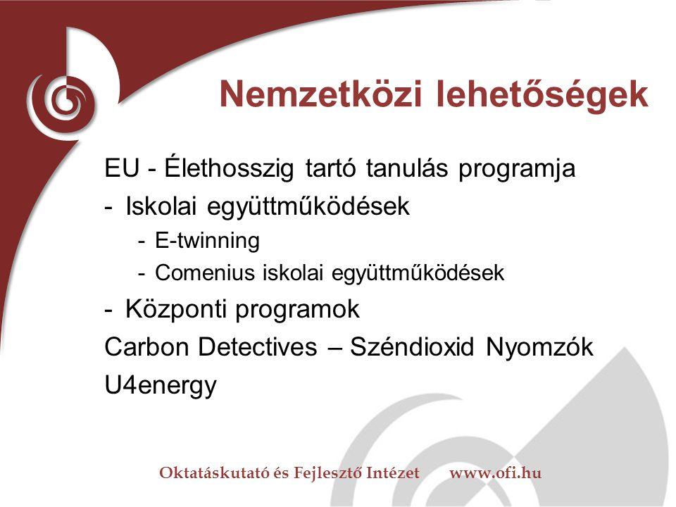 Oktatáskutató és Fejlesztő Intézet www.ofi.hu www.okoiskola.hu Hírlevél Segédanyagok Háttéranyagok Publikációk