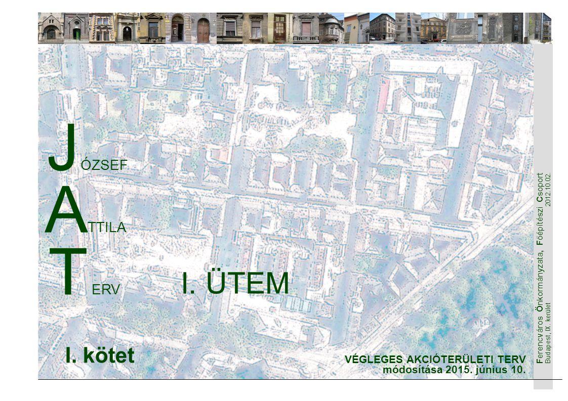 Ferencváros Önkormányzata, Főépítészi Csoport Budapest, IX. kerület 2012.10.02. 1 J ÓZSEF A TTILA T ERV VÉGLEGES AKCIÓTERÜLETI TERV módosítása 2015. j