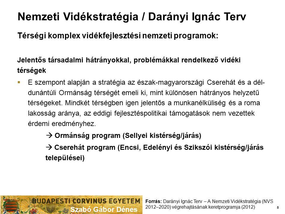 Nemzeti Vidékstratégia / Darányi Ignác Terv Térségi komplex vidékfejlesztési nemzeti programok: Jelentős társadalmi hátrányokkal, problémákkal rendelk