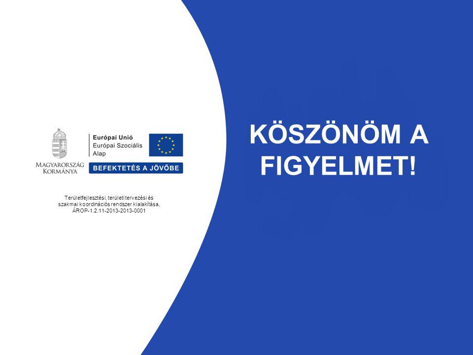 KÖSZÖNÖM A FIGYELMET! Területfejlesztési, területi tervezési és szakmai koordinációs rendszer kialakítása, ÁROP-1.2.11-2013-2013-0001