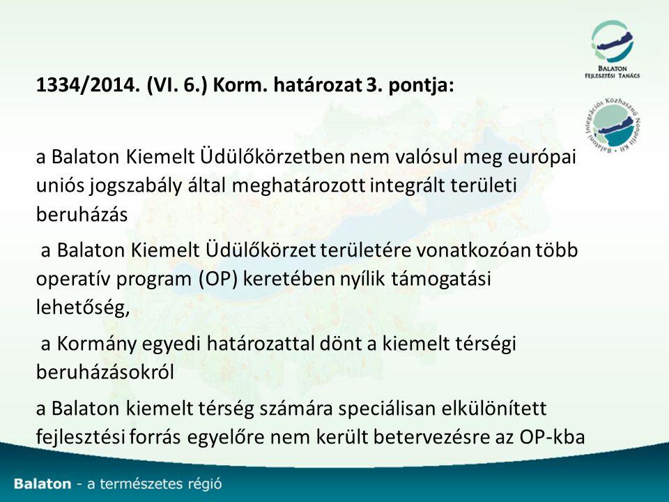 1334/2014.(VI. 6.) Korm. határozat 3.