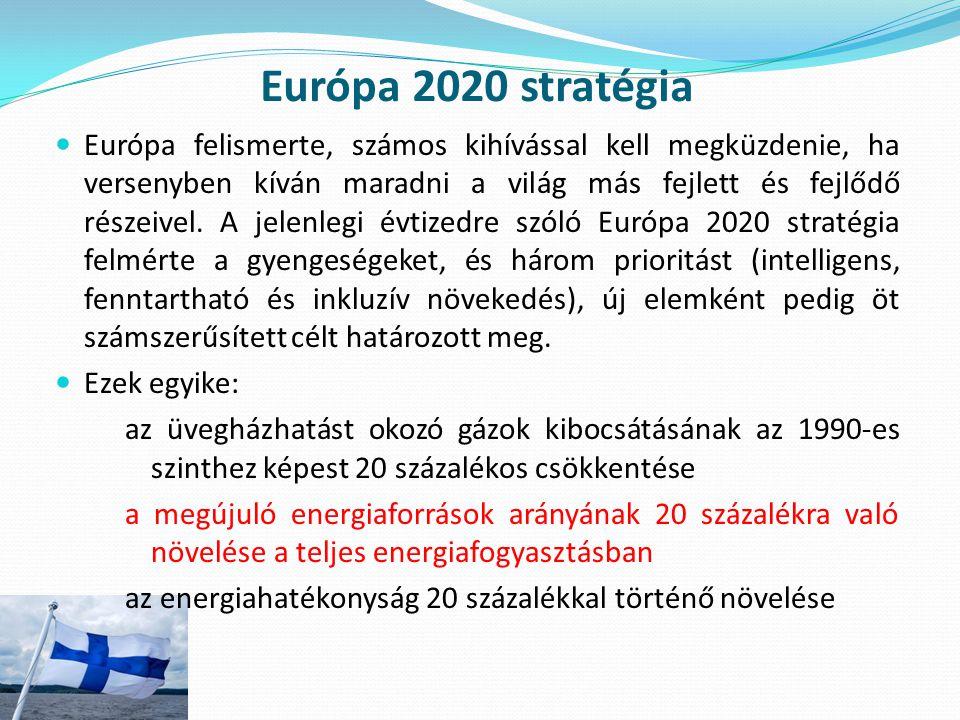 Európa 2020 stratégia Európa felismerte, számos kihívással kell megküzdenie, ha versenyben kíván maradni a világ más fejlett és fejlődő részeivel. A j