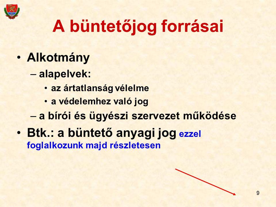 120 Büntetési alaptétel Gondatlan veszélyeztetés (alapeset): 1 évig terjedő szabadságvesztés, közérdekű munka vagy pénzbüntetés