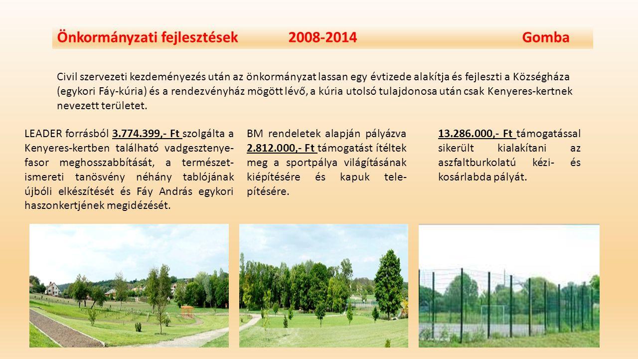Önkormányzati fejlesztések 2008-2014 Gomba IVÓVÍZ-MINŐSÉG JAVÍTÁSI PROJEKT Gomba Község Önkormányzata ( a szomszédos Bénye Község Önkormányzata nevében is) kedvezményezettként támogatást nyert az egészséges ivóvíz biztosítására kiírt KEOP pályázatokon.