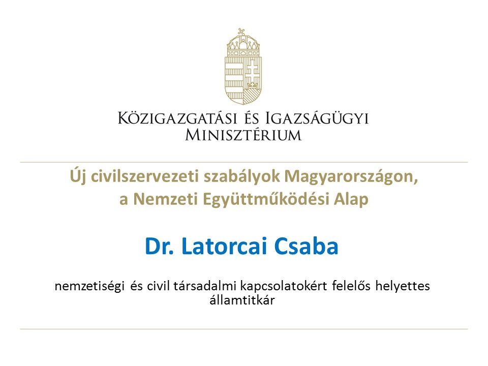 Új civilszervezeti szabályok Magyarországon, a Nemzeti Együttműködési Alap Dr.