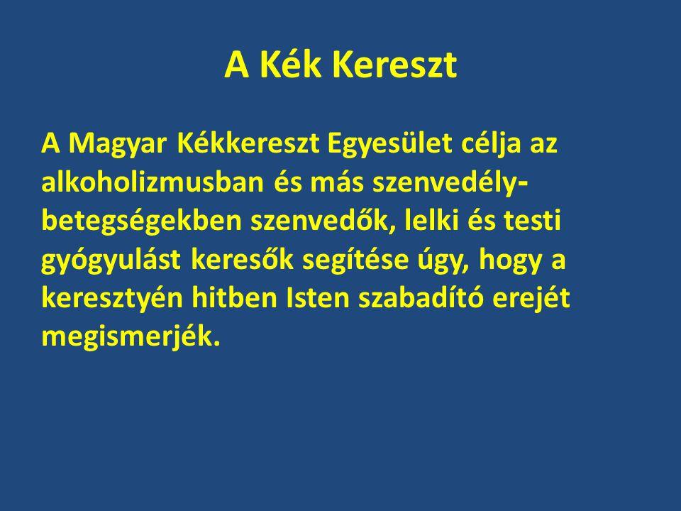 A Kék Kereszt A Magyar Kékkereszt Egyesület célja az alkoholizmusban és más szenvedély - betegségekben szenvedők, lelki és testi gyógyulást keresők se