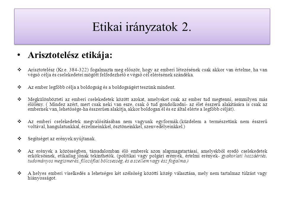 Etikai irányzatok 8.
