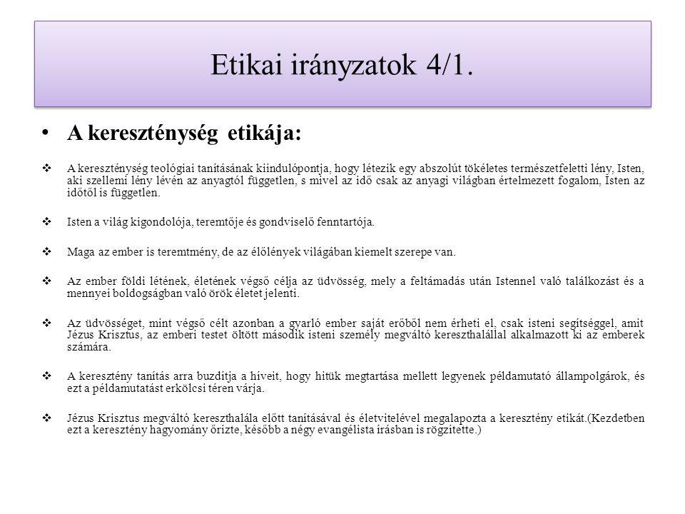Etikai irányzatok 10.