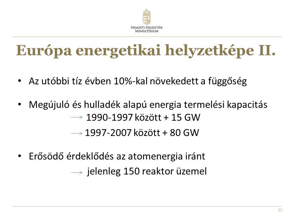 13 Európa energetikai helyzetképe II.