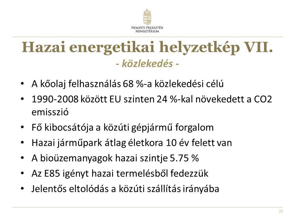 21 Hazai energetikai helyzetkép VII.