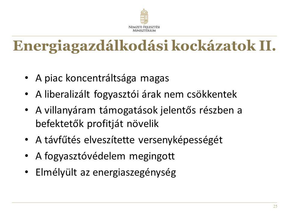 25 Energiagazdálkodási kockázatok II.