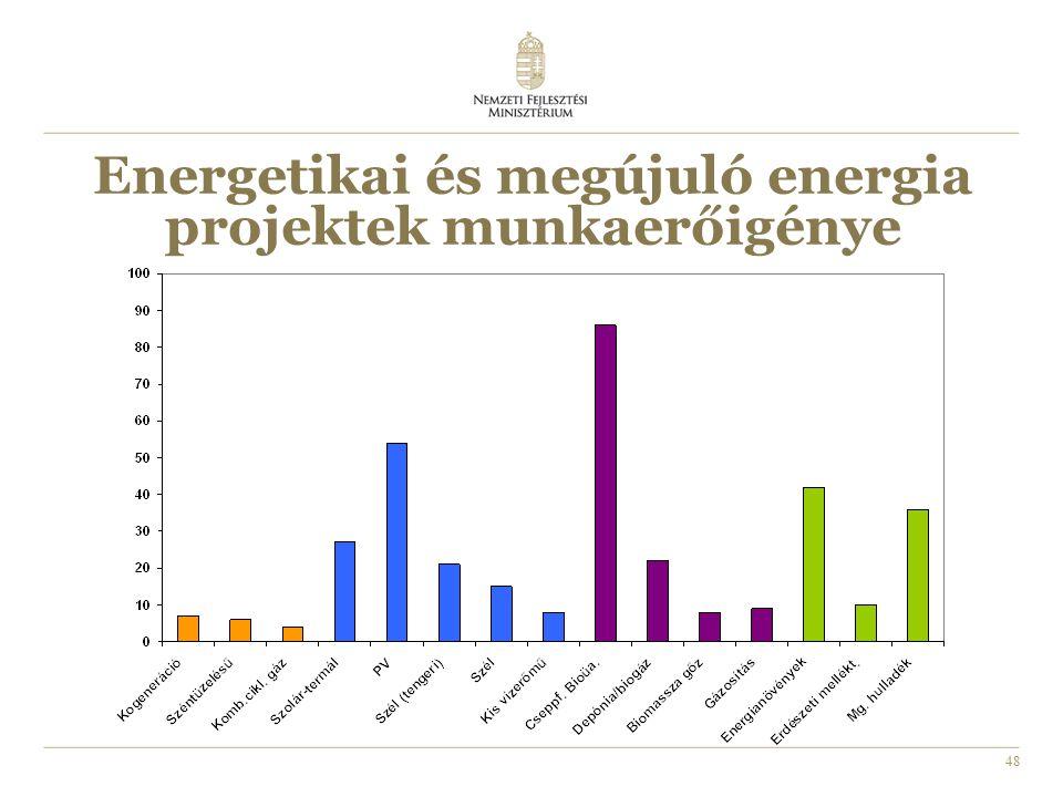 48 Energetikai és megújuló energia projektek munkaerőigénye