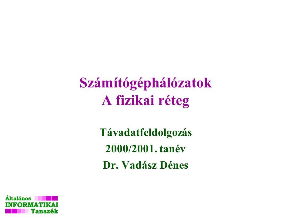 Számítógéphálózatok A fizikai réteg Távadatfeldolgozás 2000/2001. tanév Dr. Vadász Dénes