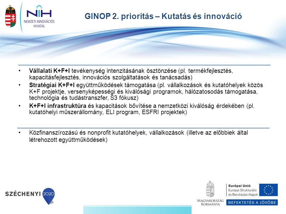Vállalati K+F+I tevékenység intenzitásának ösztönzése (pl. termékfejlesztés, kapacitásfejlesztés, innovációs szolgáltatások és tanácsadás) Stratégiai