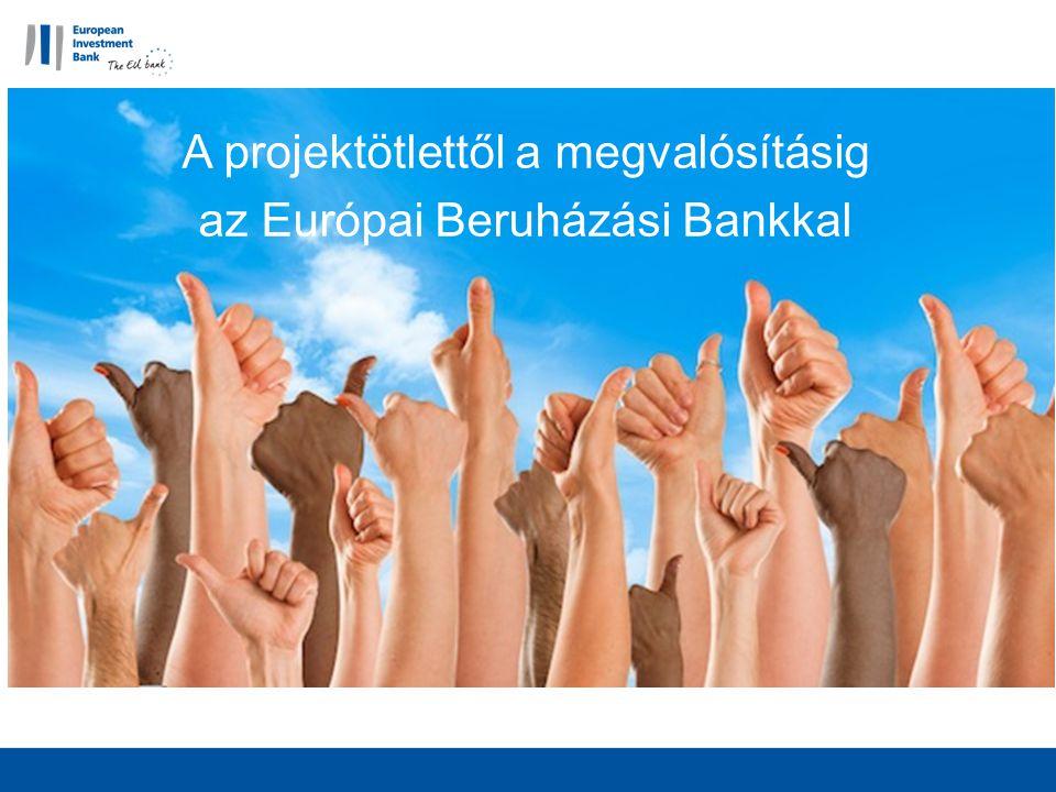 EIB termékek Senior debt (>EUR 25m beruházás) Beruházási költség max.