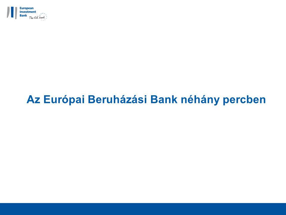 Az Európai Beruházási Bank néhány percben