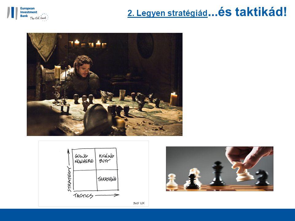 2. Legyen stratégiád...és taktikád!