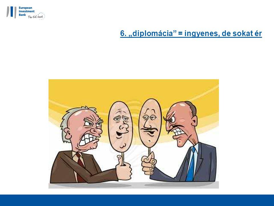 """6. """"diplomácia = ingyenes, de sokat ér"""