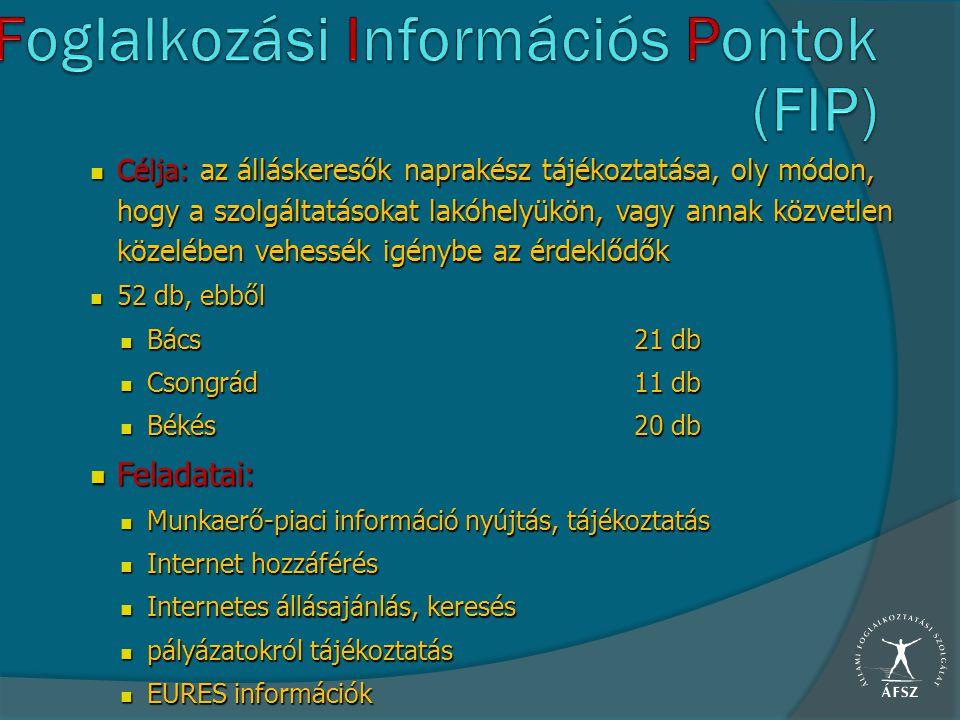 Korszerű információ technológiával felszerelt közösségi hozzáférési pontok.