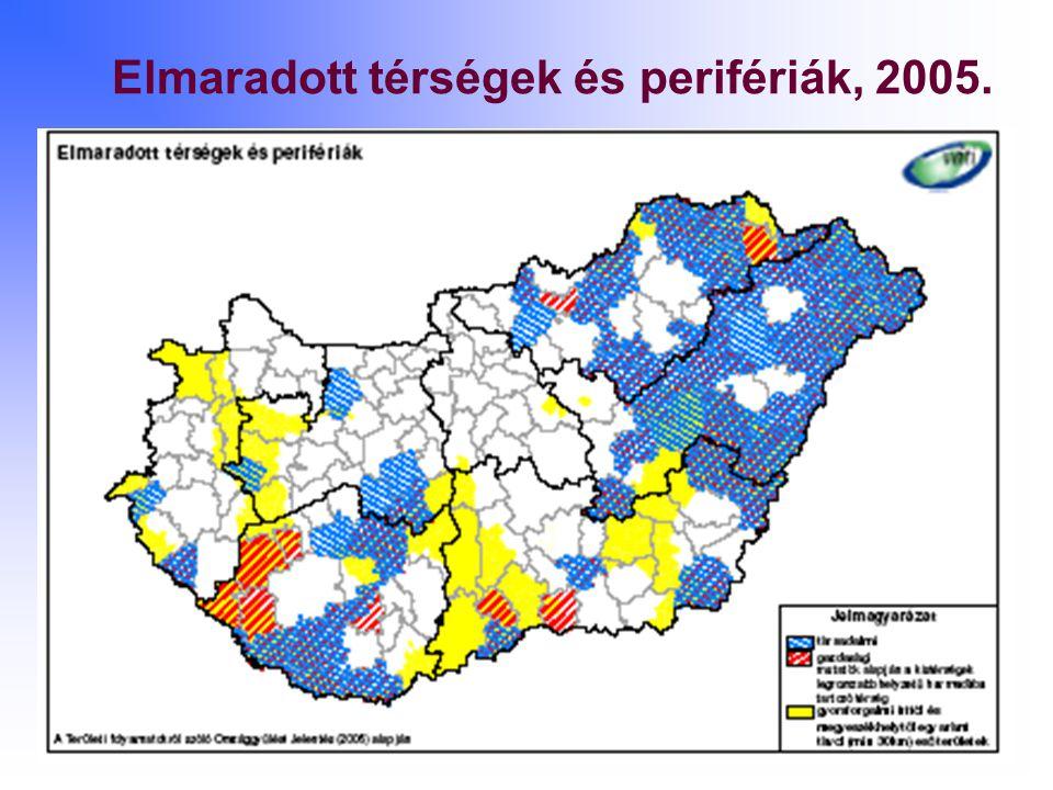 Elmaradott térségek és perifériák, 2005.