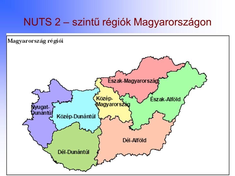 NUTS 2 – szintű régiók Magyarországon