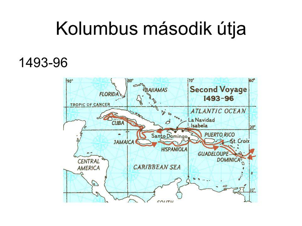Kolumbus második útja 1493-96