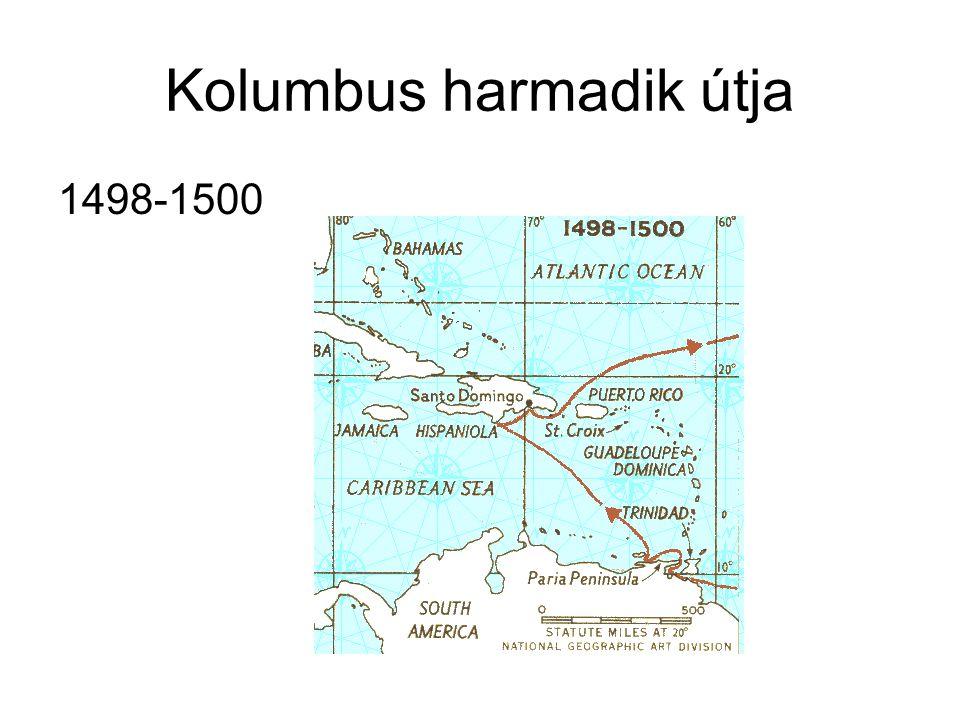 Kolumbus harmadik útja 1498-1500