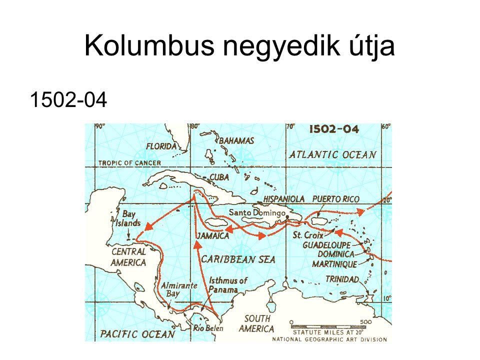 Kolumbus negyedik útja 1502-04